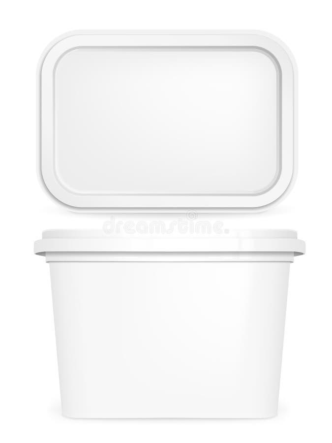 Caja de la mantequilla stock de ilustración