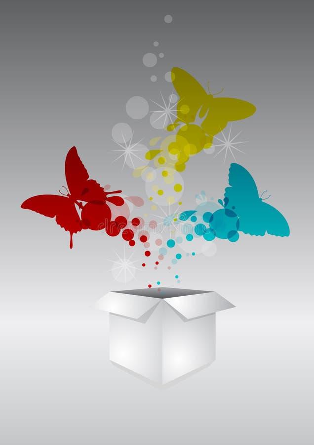 Caja de la mariposa libre illustration