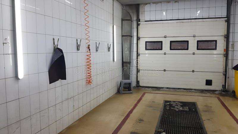 Caja de lavado de coches vacía fotos de archivo