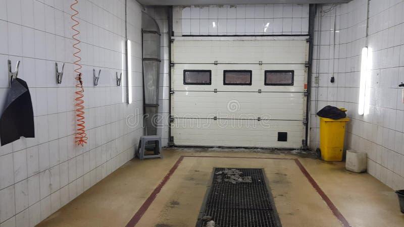 Caja de lavado de coches vacía fotografía de archivo libre de regalías