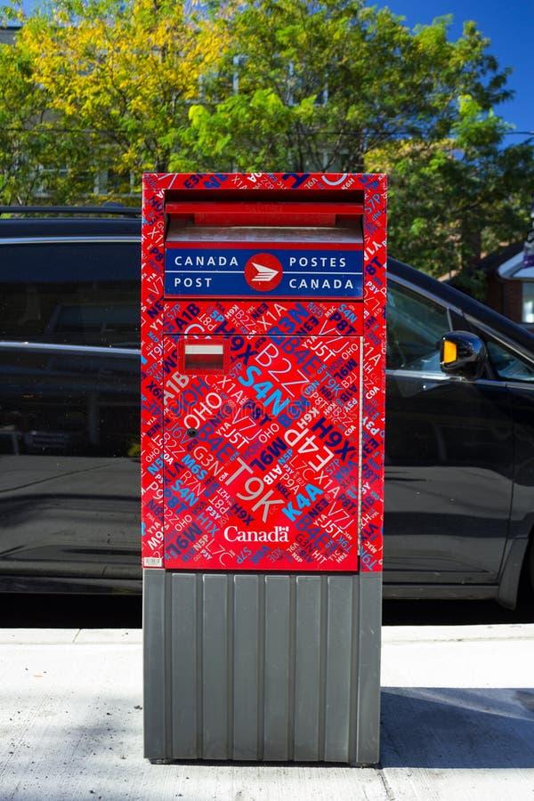 Caja de los posts de Canadá foto de archivo libre de regalías