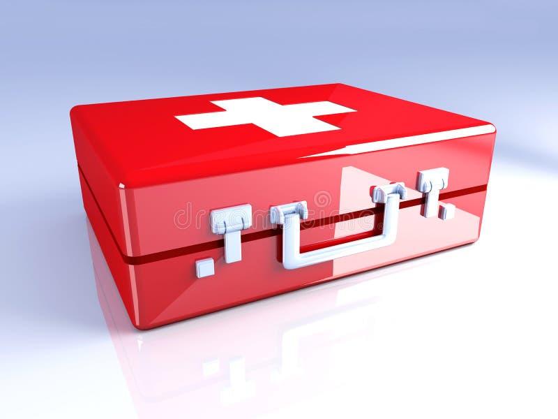 Caja de los primeros auxilios stock de ilustración