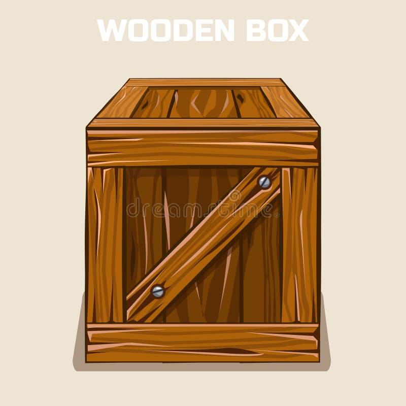 Caja de madera Cliparts, elemento del juego libre illustration