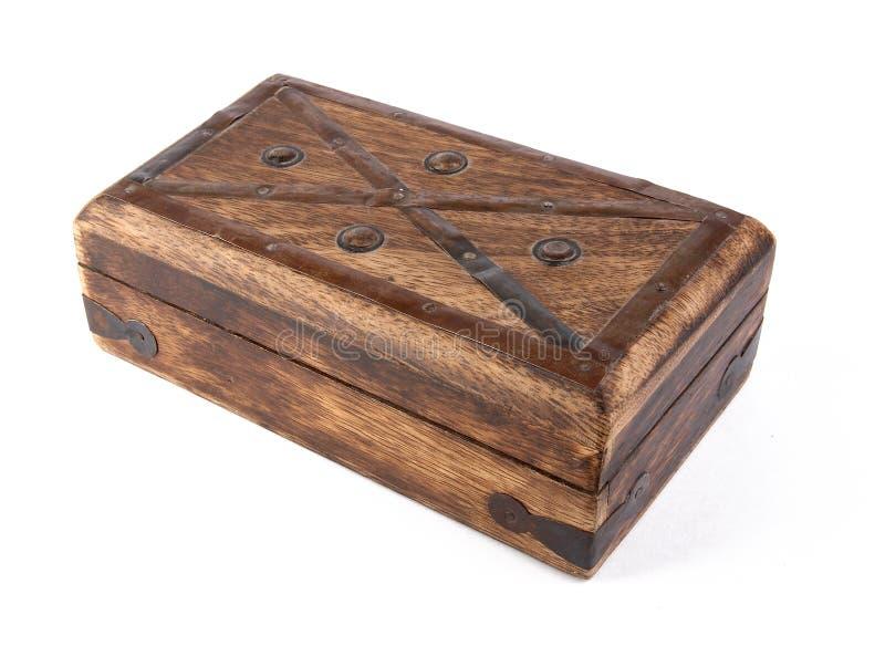 Caja de madera retra (ataúd) fotografía de archivo libre de regalías