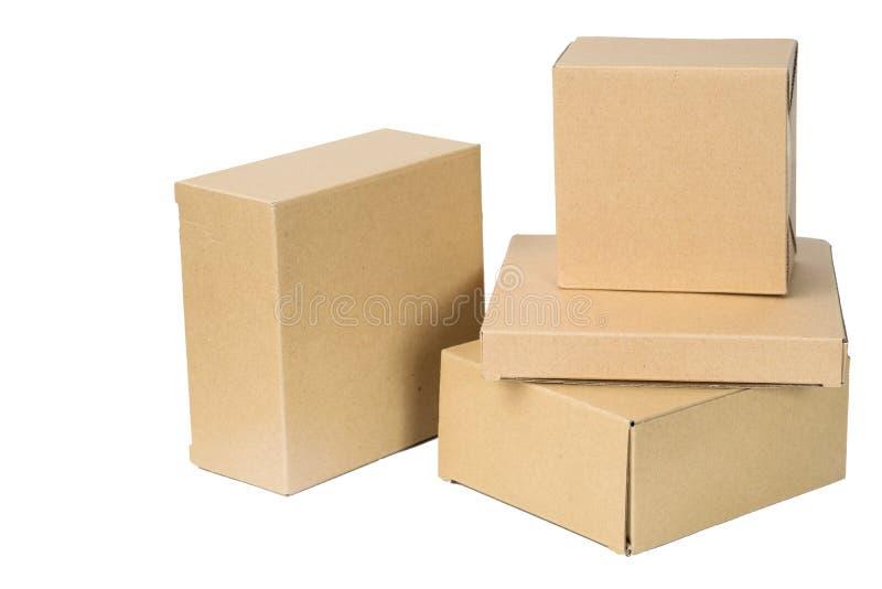 Caja de papel acanalada de Brown fotos de archivo libres de regalías