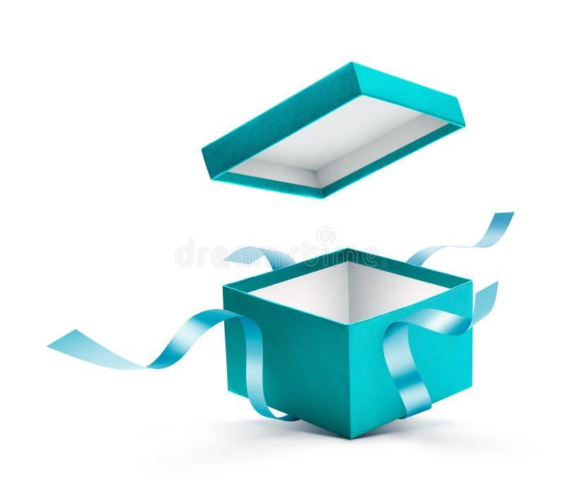 Caja de regalo abierta con la cinta foto de archivo