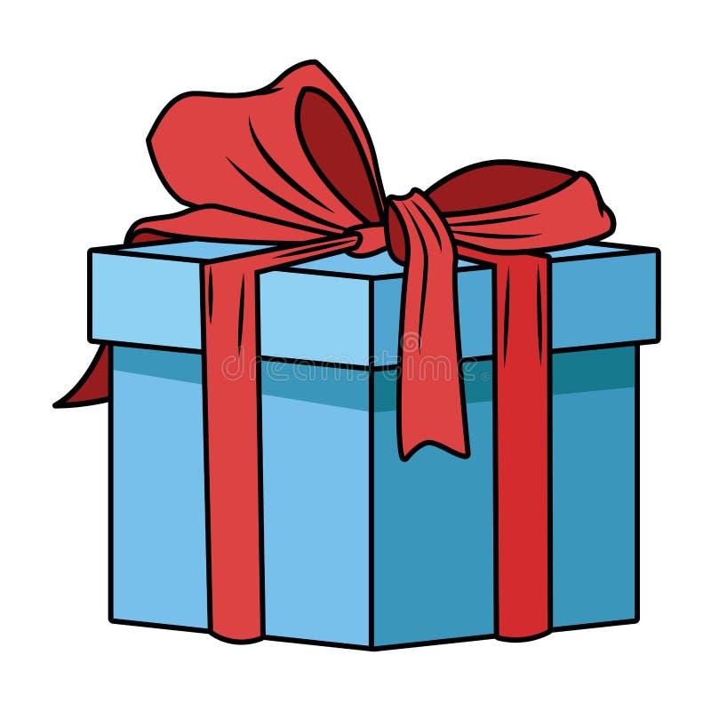 Caja de regalo con el icono de la cinta libre illustration