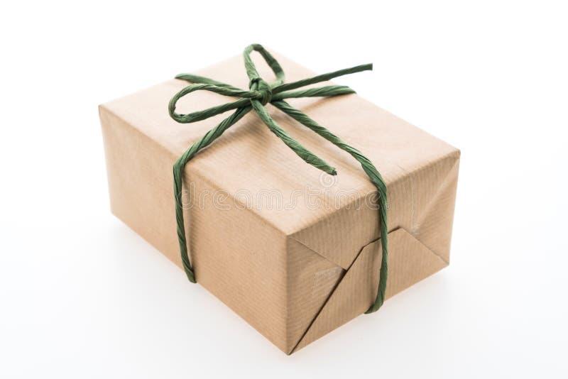 Download Caja de regalo de Brown foto de archivo. Imagen de regalo - 64211720