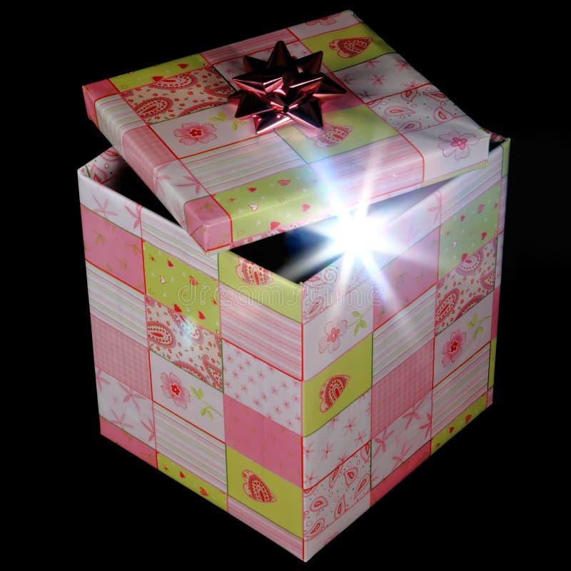 Caja de regalo de la sorpresa del nuevo producto imagenes de archivo