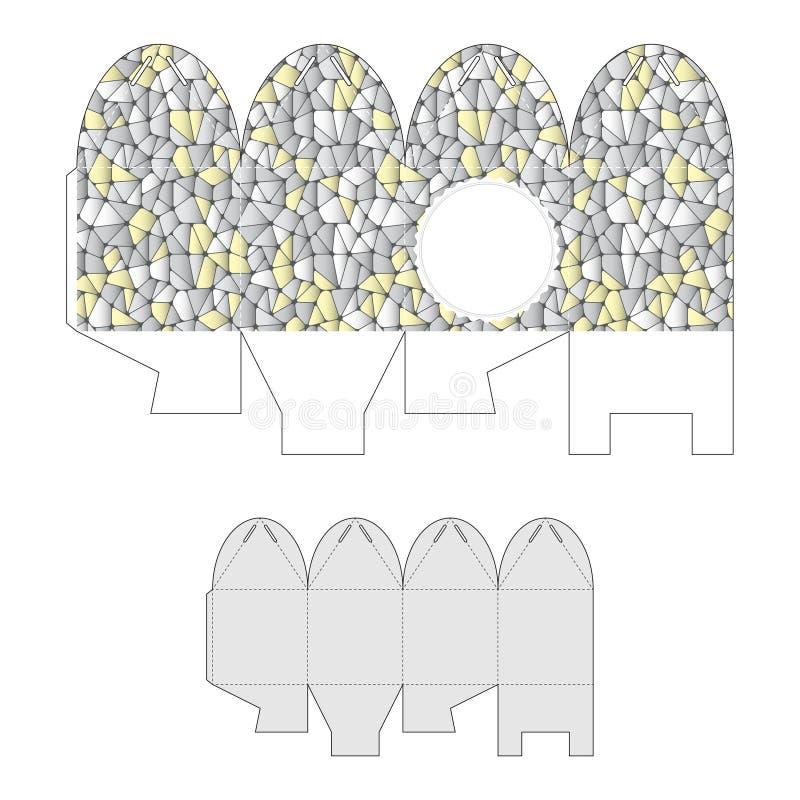 Caja de regalo decorativa con el modelo abstracto ilustración del vector