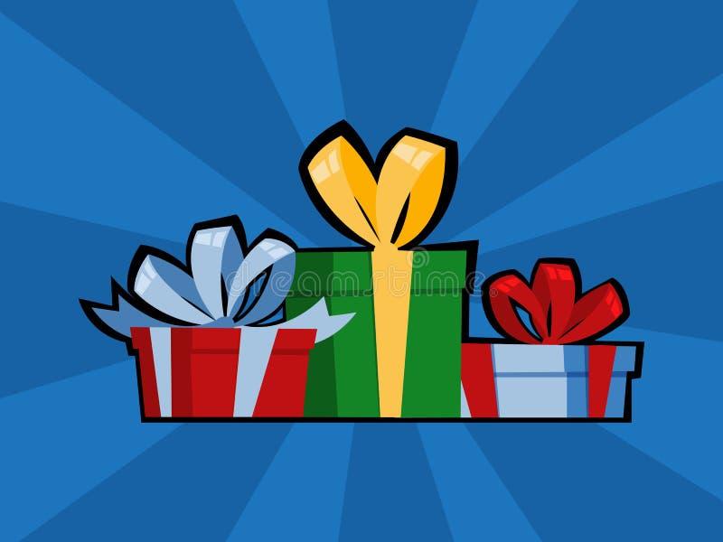 Caja de regalo del arte pop para el cumpleaños o el regalo de Navidad libre illustration