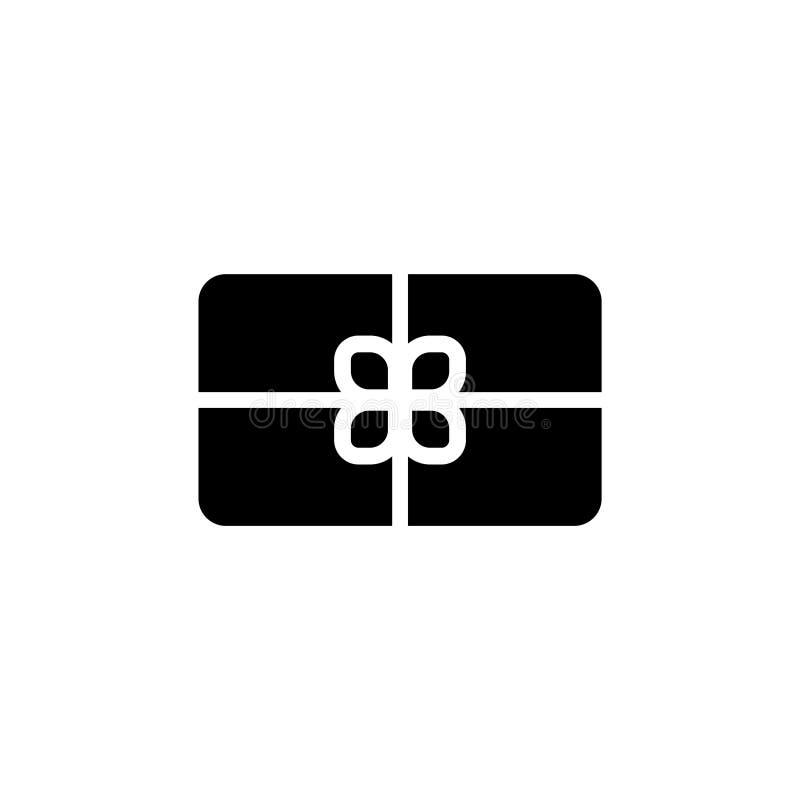 Caja de regalo, icono plano del vector del actual paquete libre illustration