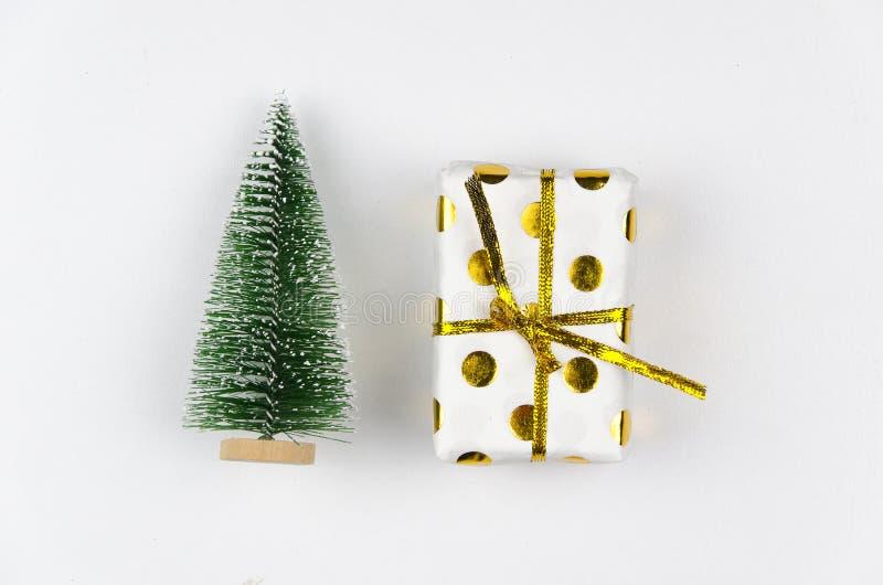 Caja De Regalo De La Navidad Con El árbol De Pino Para La Mofa ...