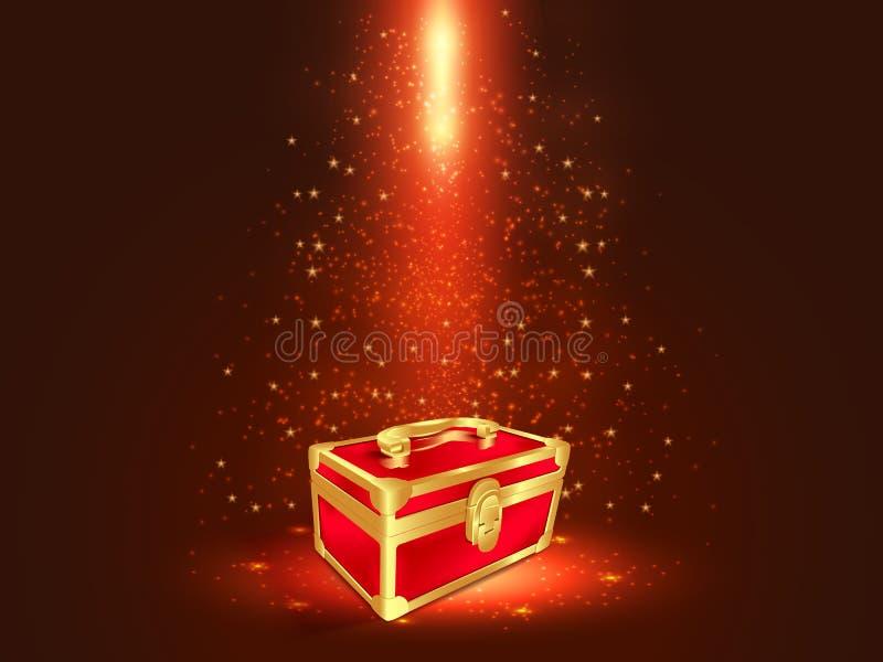 Caja de regalo roja ilustración del vector