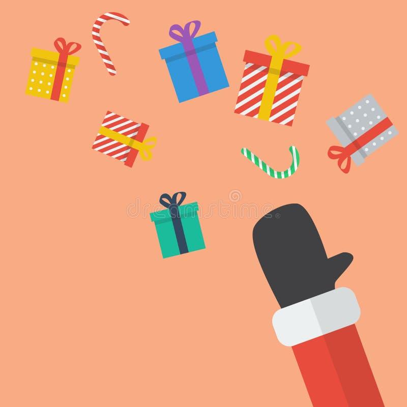 Caja de Santa Hand Throw Christmas Gift libre illustration