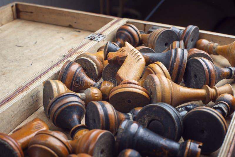 Caja del ajedrez del vintage imágenes de archivo libres de regalías