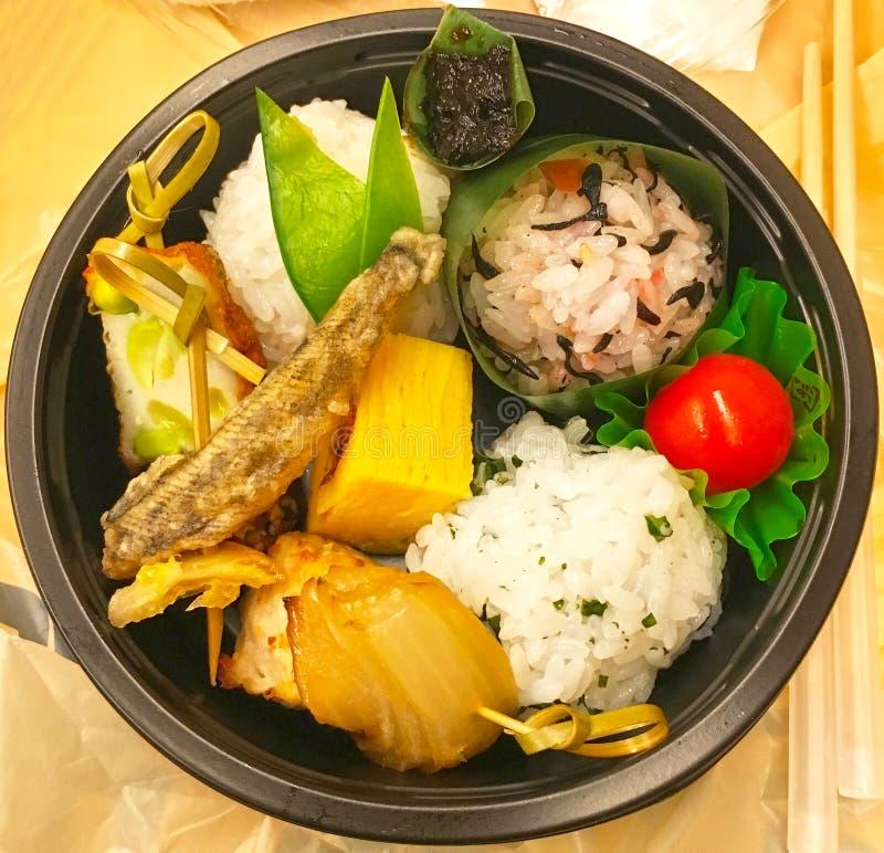 Caja del almuerzo confeccionada japonesa, Bento foto de archivo libre de regalías