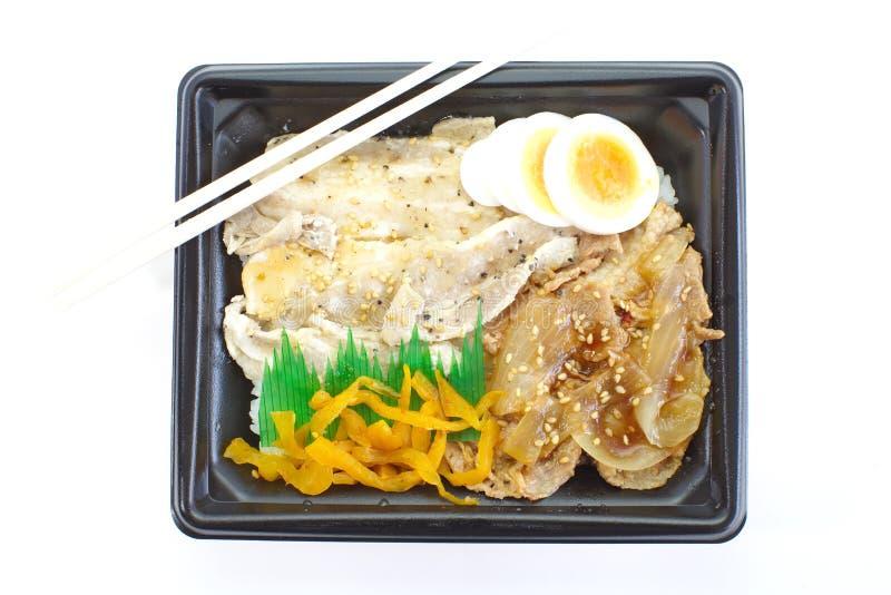 Caja del almuerzo confeccionada japonesa, Bento imágenes de archivo libres de regalías