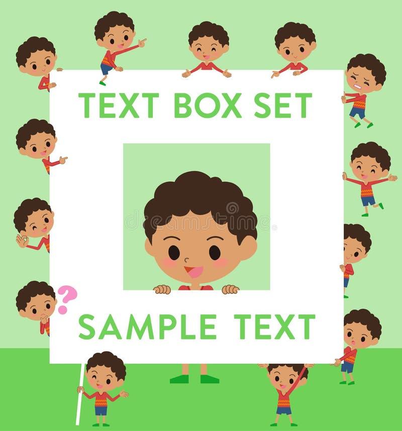 Caja del boy_text del pelo de la ondulación permanente libre illustration