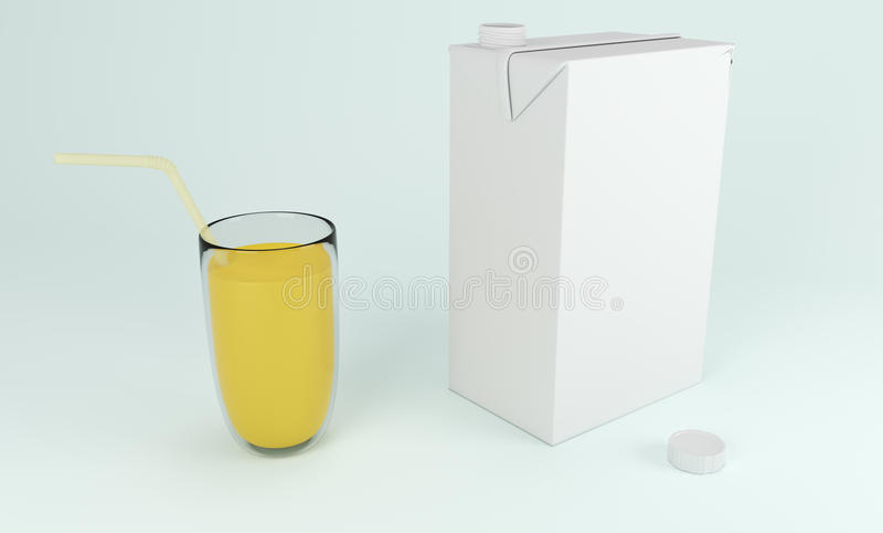 caja del cartón 3D con la fruta anaranjada representación 3d libre illustration