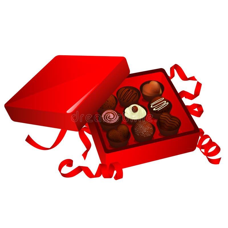 Caja del chocolate ilustración del vector