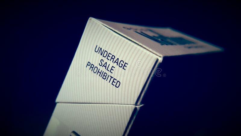 Caja del cigarrillo foto de archivo libre de regalías
