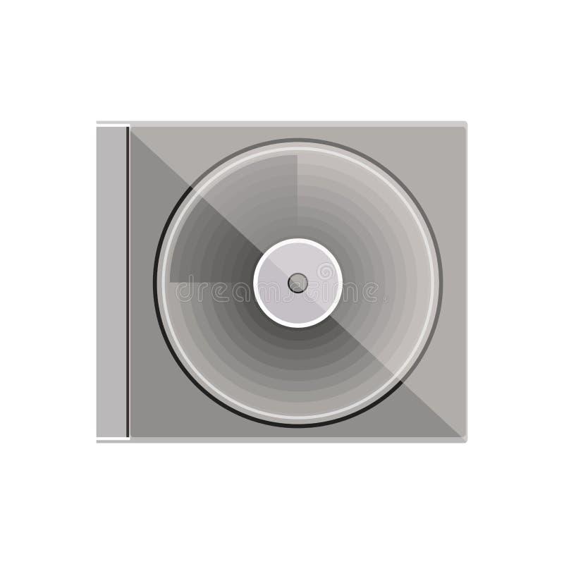 Caja del disco compacto de la escala gris de la silueta libre illustration