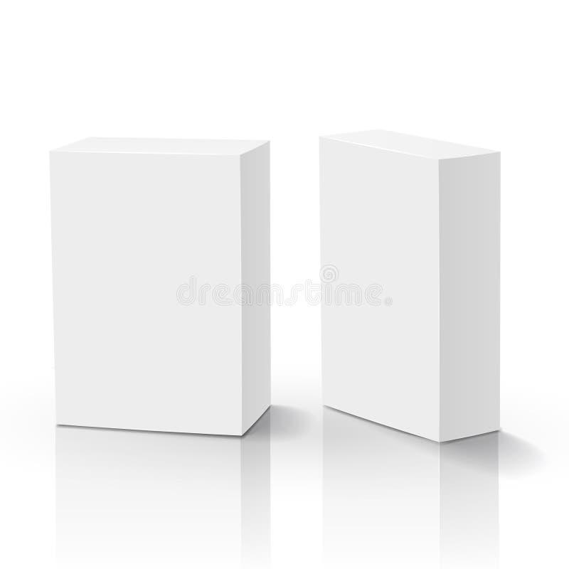 caja del espacio en blanco del vector 3d ilustración del vector