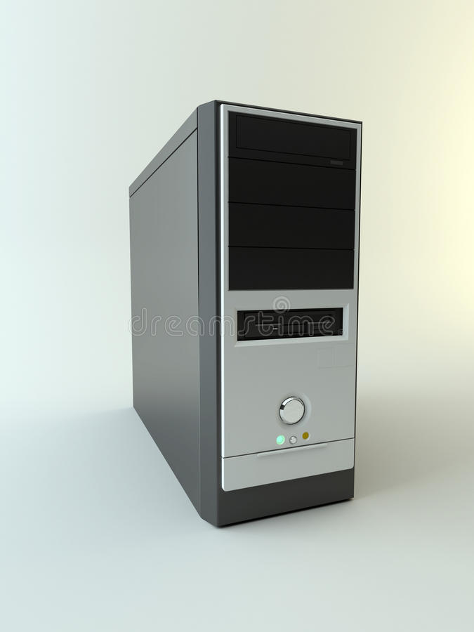 Caja del ordenador imágenes de archivo libres de regalías
