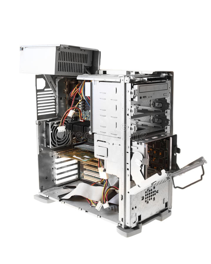 Caja del ordenador fotos de archivo
