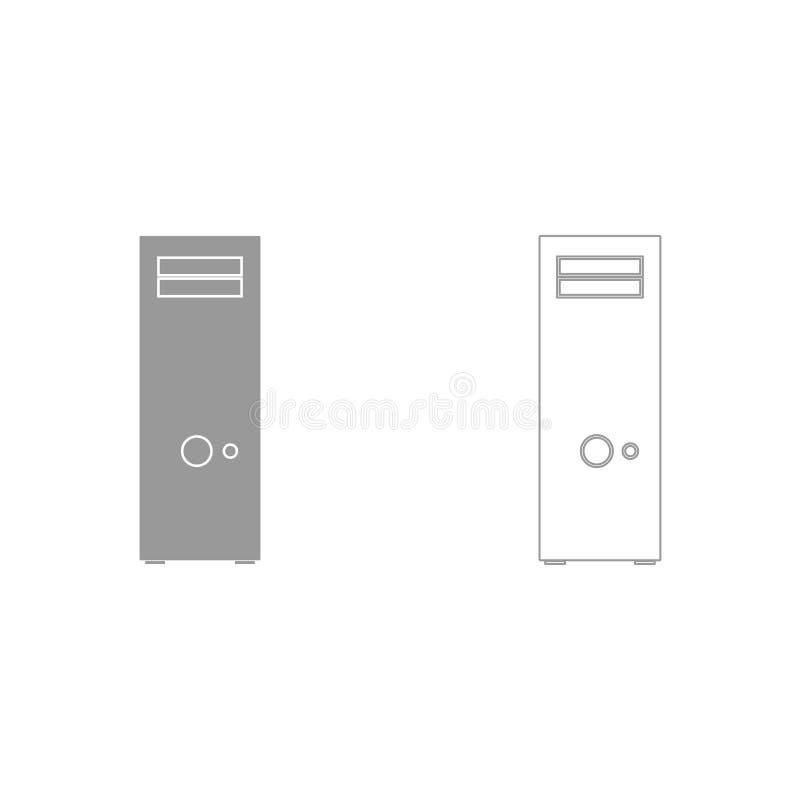 Caja del ordenador o unidad de sistema es icono libre illustration