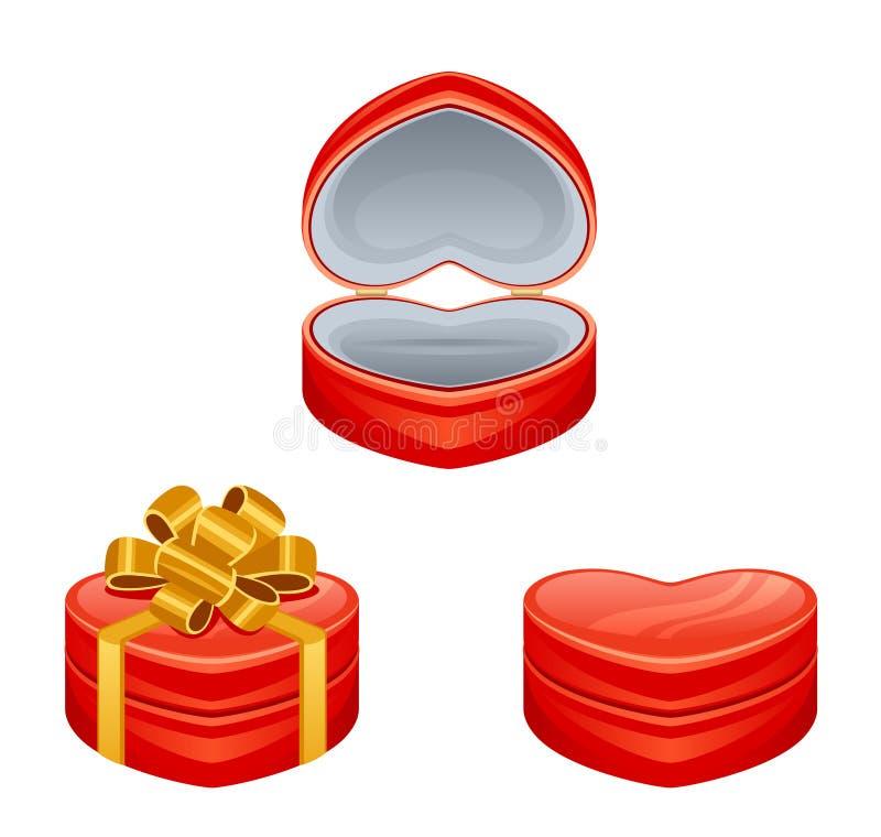 Caja del rojo del regalo ilustración del vector