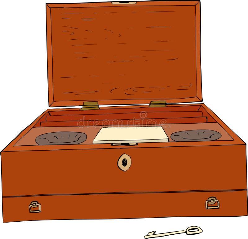 Caja del siglo XVIII de la pintura ilustración del vector
