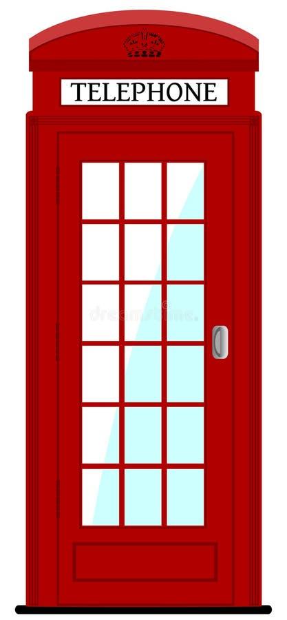 Caja del teléfono de Londres, ejemplo ilustración del vector