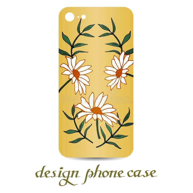 Caja del teléfono del diseño Las cajas del teléfono son florales adornadas Elementos decorativos de la vendimia libre illustration