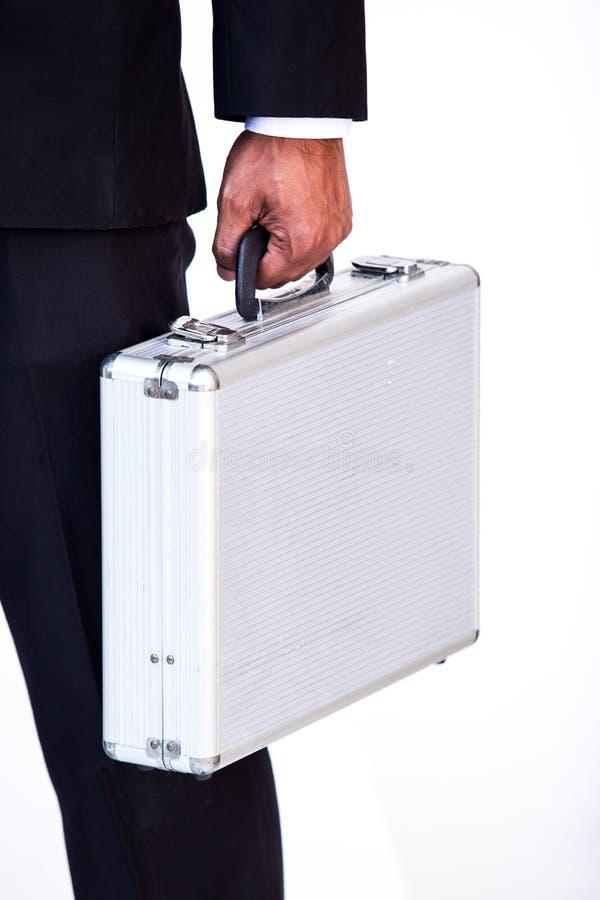 Caja del traje del hombre de negocios que lleva fotografía de archivo