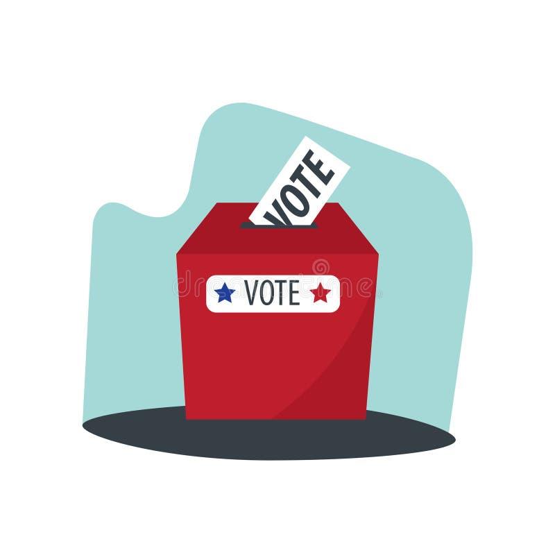 Caja del voto del día de elección ilustración del vector