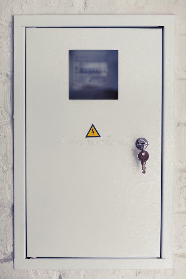 Caja eléctrica blanca imagen de archivo libre de regalías