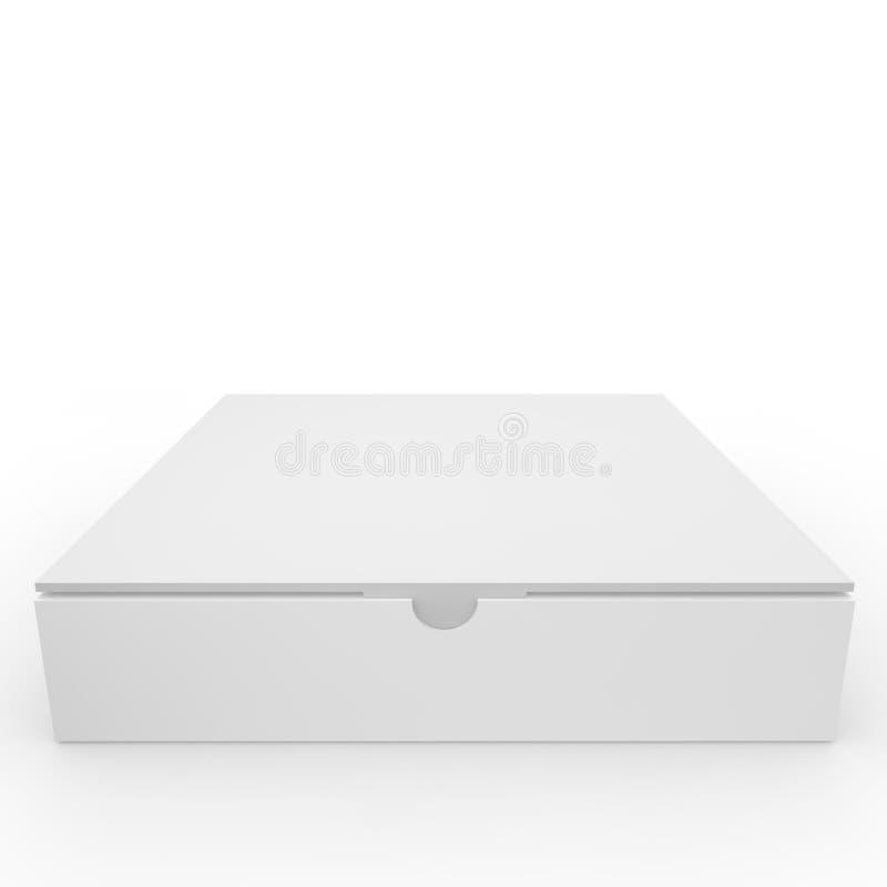 Caja en blanco blanca con el corchete libre illustration