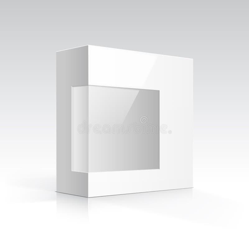 Caja en blanco del vector con la ventana transparente libre illustration