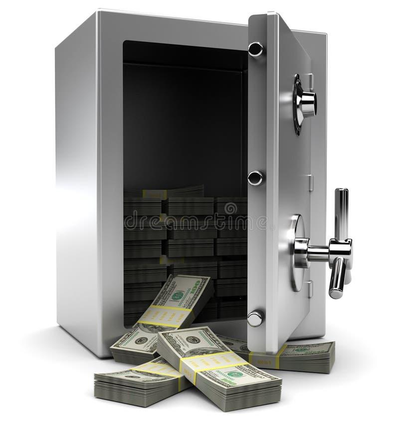 Caja fuerte con el dinero libre illustration