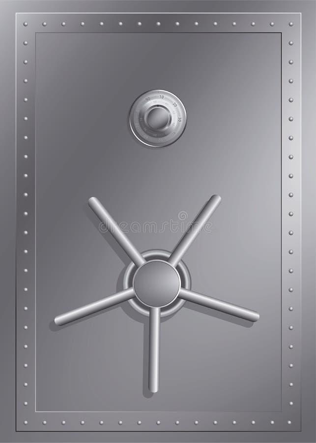 Caja fuerte de acero con el bloqueo de combinación stock de ilustración