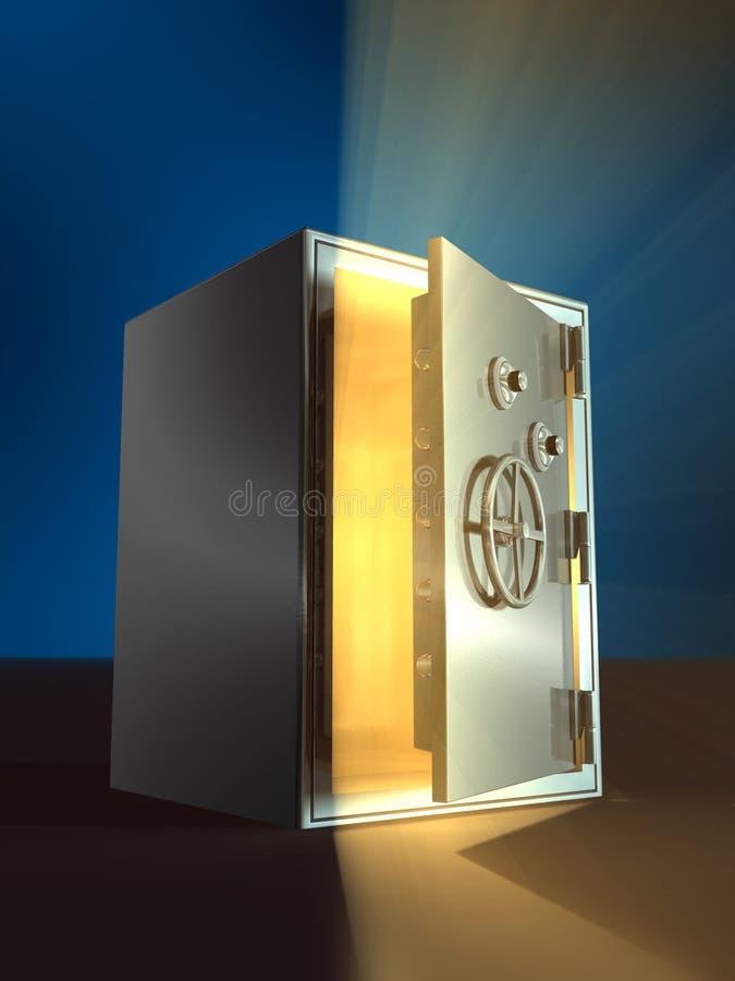 Caja fuerte de apertura ilustración del vector