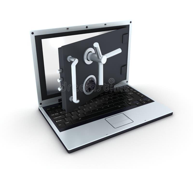 Caja fuerte de la computadora portátil, tapa de la visión libre illustration
