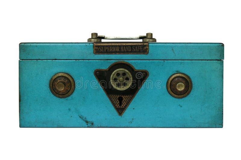 Caja fuerte de la mano del vintage fotografía de archivo