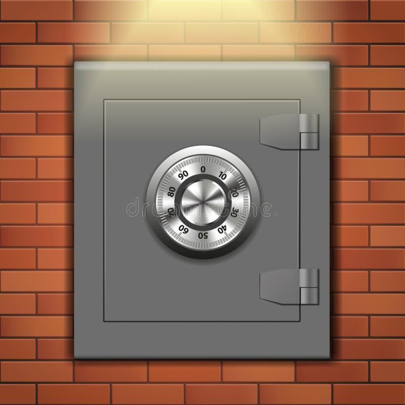 Caja fuerte de la pared ilustración del vector