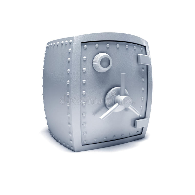 Caja fuerte del metal. imagen de archivo libre de regalías