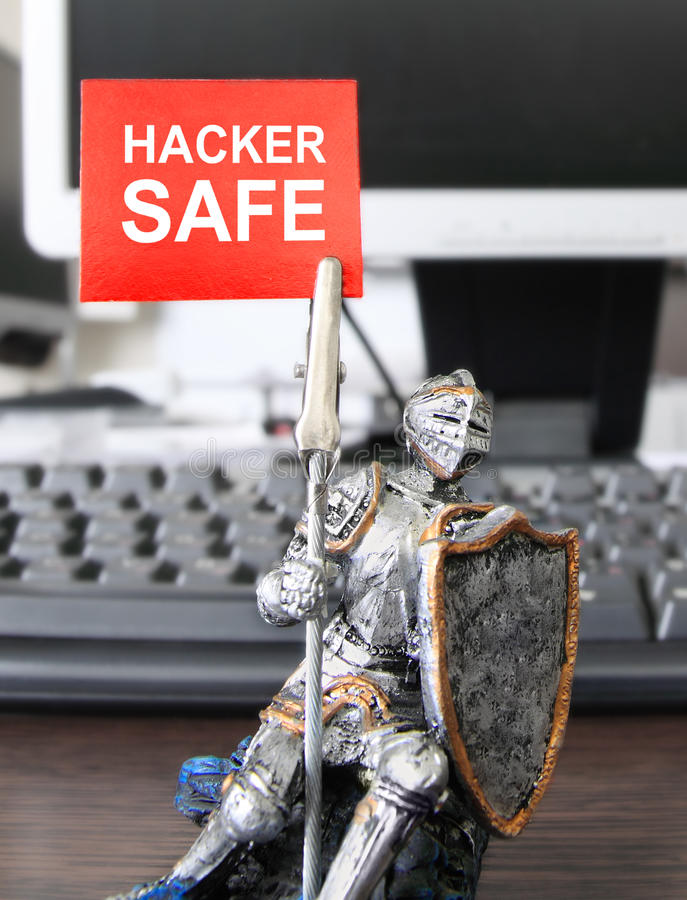 Caja fuerte del pirata informático. imagenes de archivo