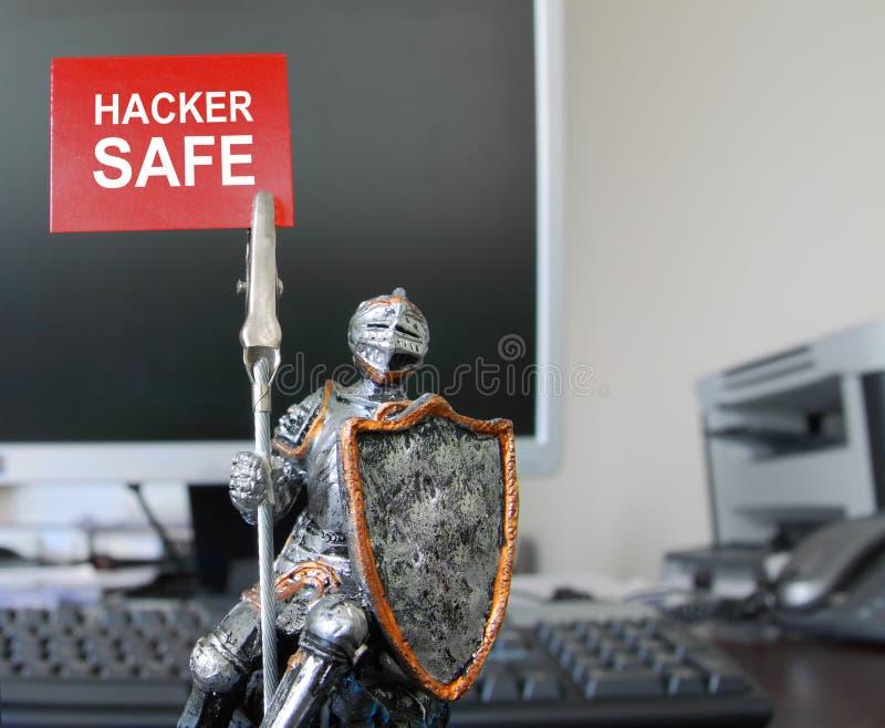 Caja fuerte del pirata informático. foto de archivo