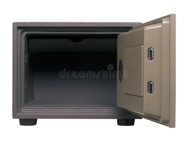 Caja fuerte moderna con una puerta abierta fotos de archivo